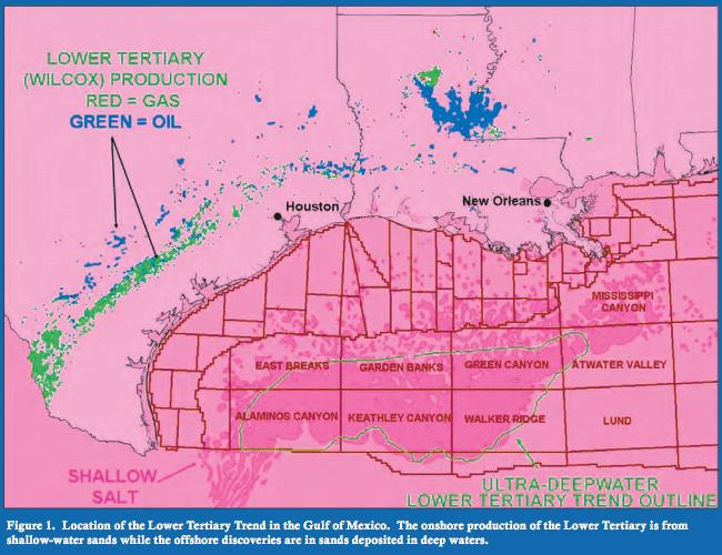Lower Tertiary Oil Map