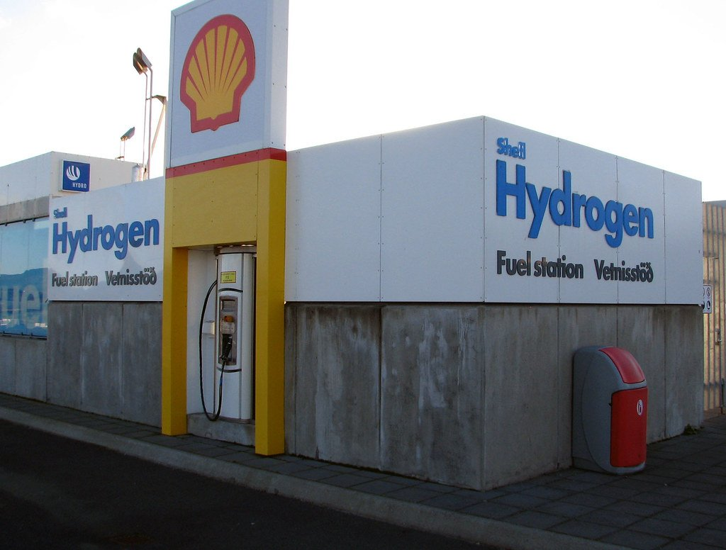 A Shell hydrogen fueling station
