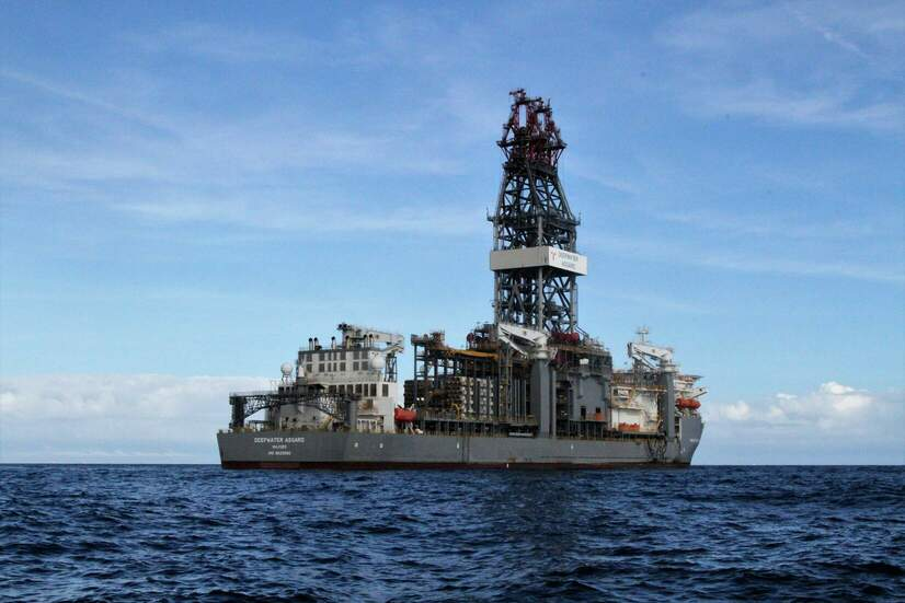 The Transocean Deepwater Asgard offshore drilling rig at sea in January 10, 2018