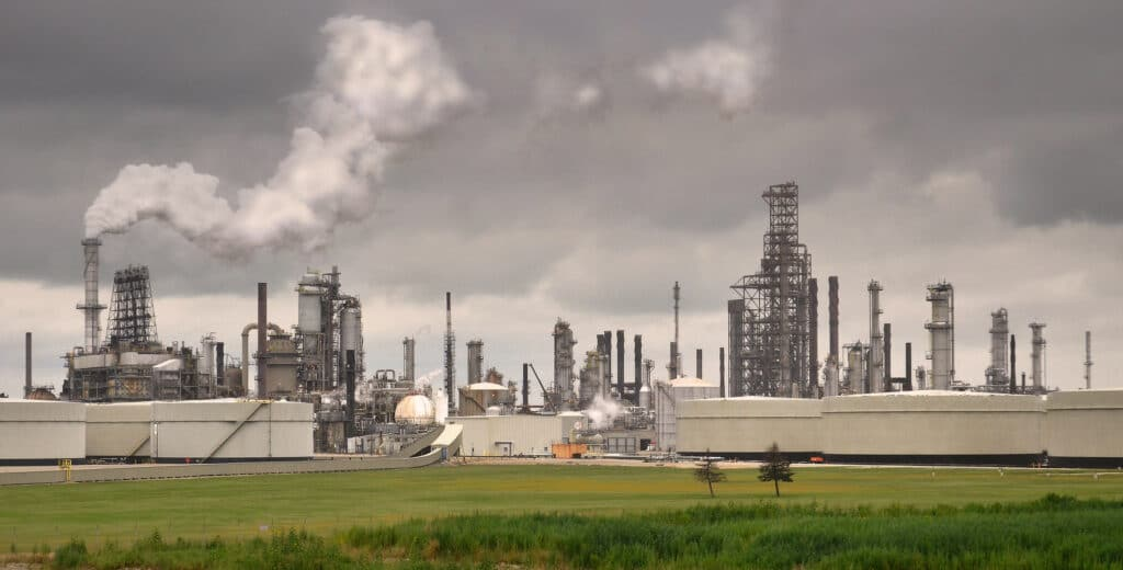 An ExxonMobil oil and gas refinery