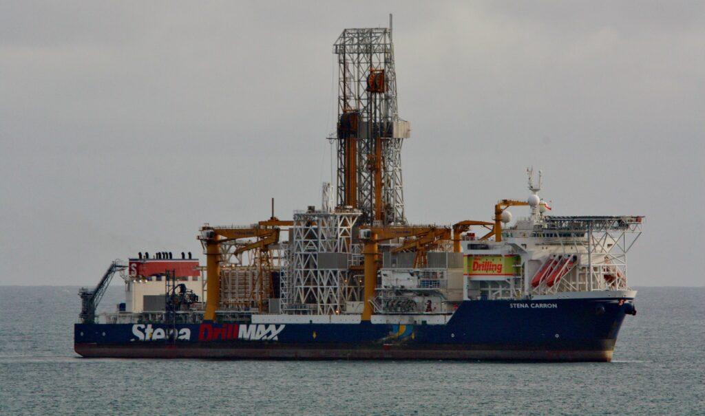 Offshore drillship Stena Carron in the ocean