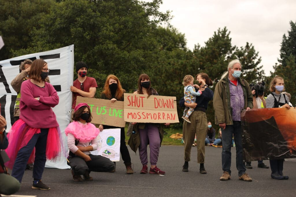 Protestors Gather to Highlight Social Justice and Environmental 'Crime Scene' at Mossmorran Petrochemical Complex