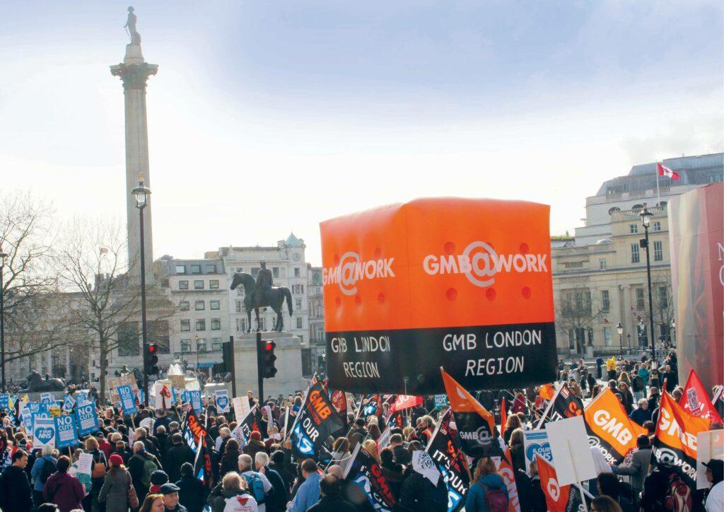 GMB protest in London in 2017