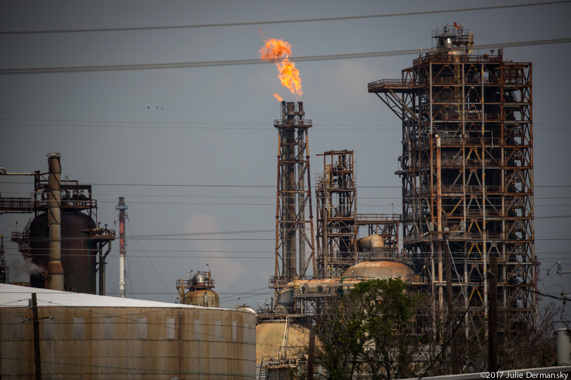 Flare at Exxon Baytown refinery after Hurricane Harvey