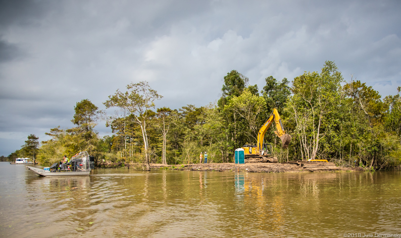 Bayou Bridge pipeline under construction in the Atchafalaya Basin