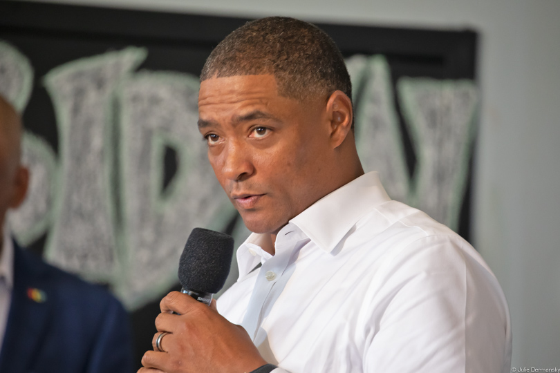 Cedric Richmond speaking in New Orleans in 2019