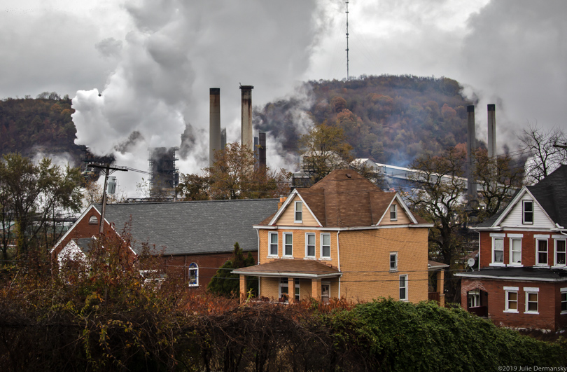 Emissions rising from smokestacks from U.S. Steel's Clairton coking plant