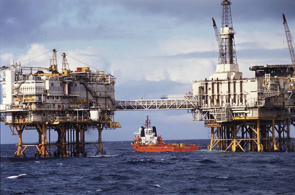 ConocoPhillips oil platform in the North Sea off Norway