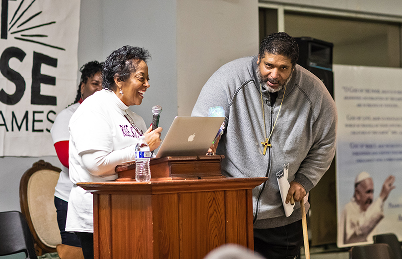 Sharon Lavigne with Rev. William Barber