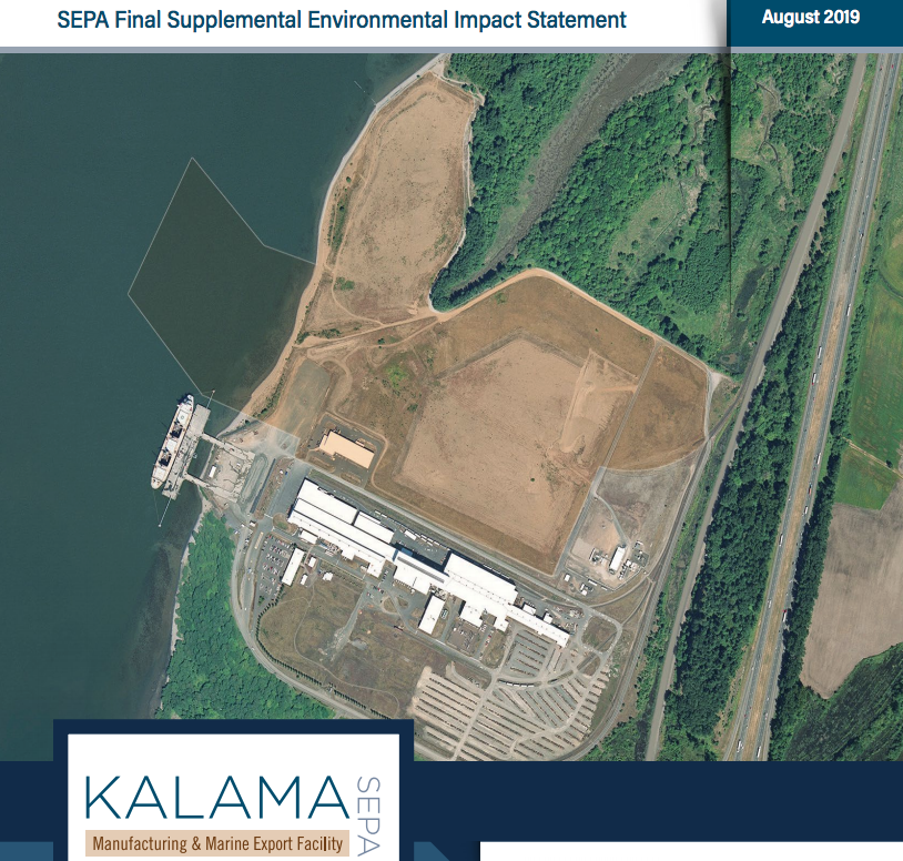 Cover of final supplemental environmental impact statement for the Kalama methanol facility