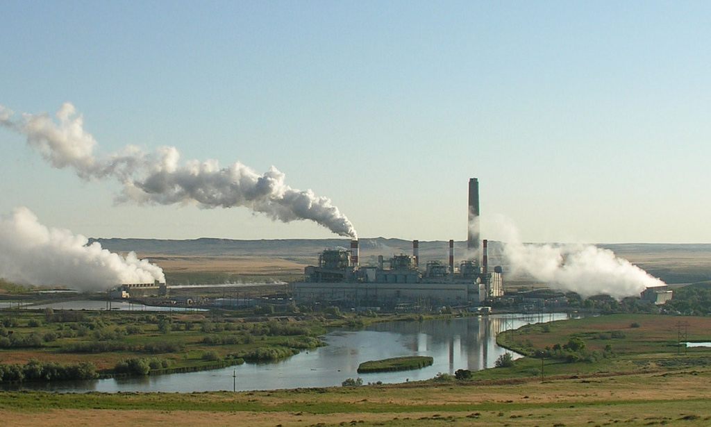 Coal plant in central Wyoming